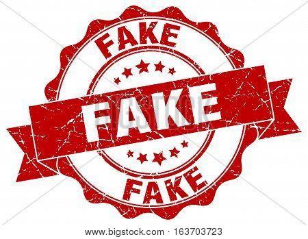 fake. stamp. sign. seal. round. retro. ribbon