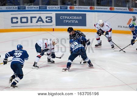 P. Lusnak (41) And I. Shipov (98) On Faceoff