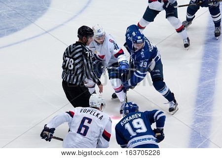 A. Kuznetsov (39) And P. Lusnak (41) On Faceoff