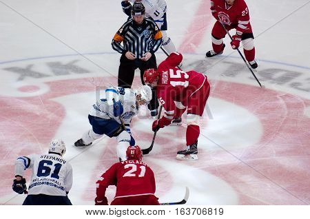 R. Horak (15) And E. Kovyrshin (88) On Faceoff