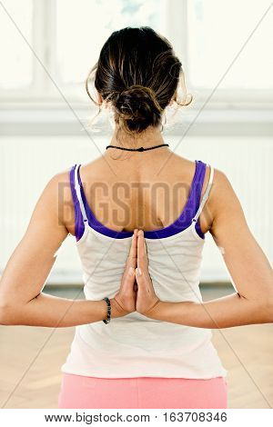 Reverse Prayer Yoga Position