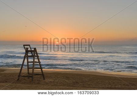 sunrise on the beach in the watchman's Chair