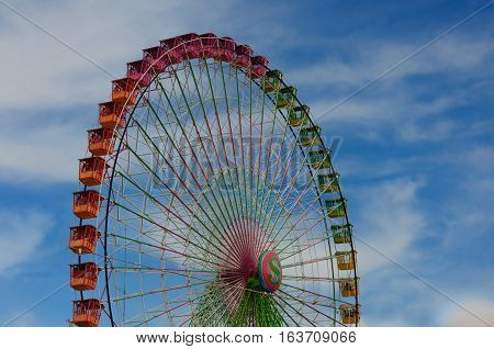 colors on the wheel of the fair of Albacete, spain