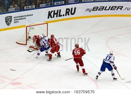 P. Datsyuk (13) And I. Kovalchuk (17) Attack