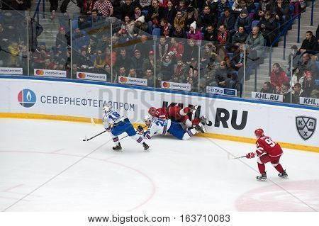 N. Vyglazov (21) And A. Zubarev (28) Fall Down