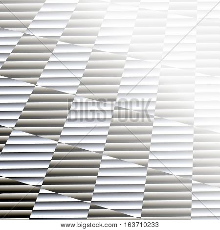 Silver abstract background. Striped squares silver grey vector background