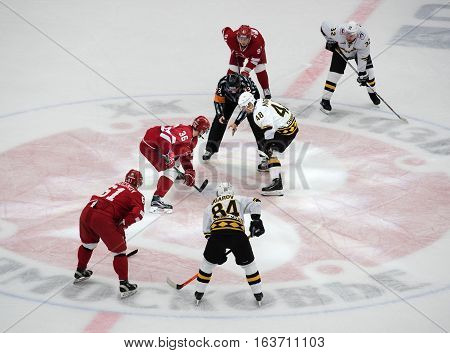 A. Makeyev (36) And I. Magogin (48) On Faceoff