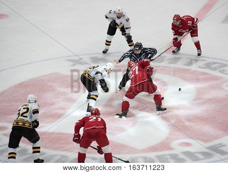I. Magogin (48) And Y. Koksharov (27) On Faceoff