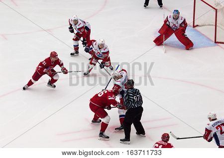 A. Nikulin (36) And P. Kraskovsky (63) On Faceoff