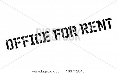 Office For Rent rubber stamp. Grunge design with dust scratches. Effects can be easily removed for a clean, crisp look. Color is easily changed.