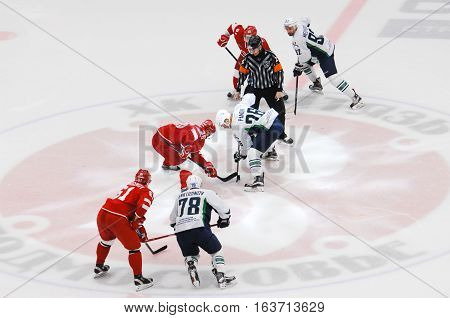 K. Panov (26) And A. Nikulin (36) On Faceoff