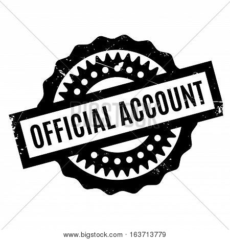 Official Account rubber stamp. Grunge design with dust scratches. Effects can be easily removed for a clean, crisp look. Color is easily changed.