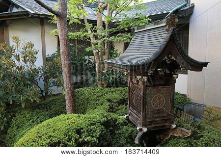 Statuary in a Buddhist Temple Garden in Japan