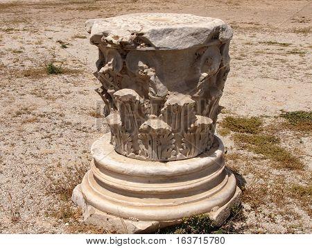 Column capital in the territory of Carthage