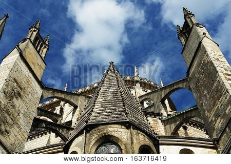 Bourges Cathedral (Cathedrale Saint-Etienne de Bourges) is a Roman Catholic cathedral, dedicated to Saint Stephen,  located in Bourges, France. It is the seat of the Archbishop of Bourges. UNESCO World Heritage Site.