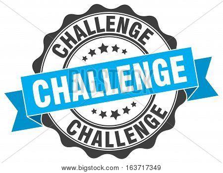 challenge. stamp. sign. seal. round. retro. ribbon