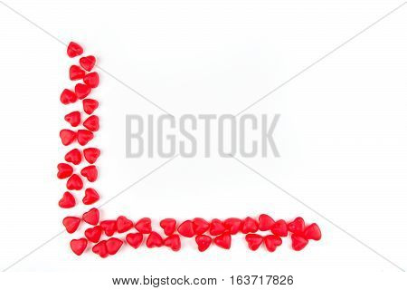 Heart Shaped Gummy Candy Isolated On A White Background