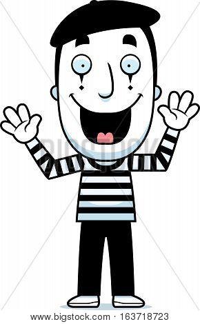 Cartoon Mime Smiling