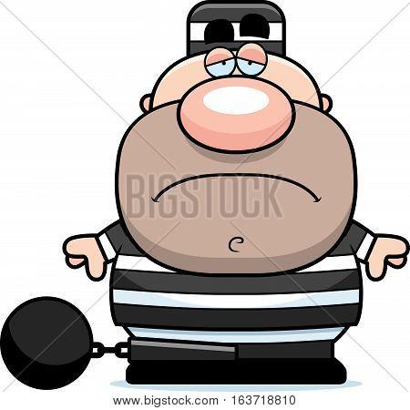 Cartoon Sad Prisoner