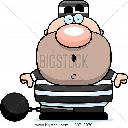 Cartoon Surprised Prisoner