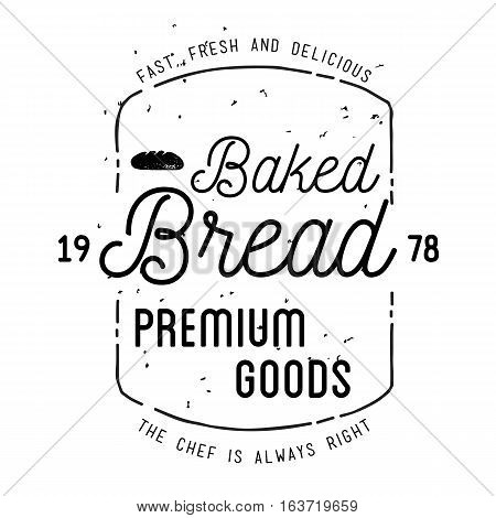 Bakery Label Design. Easy to manipulate, re-size or colorize.