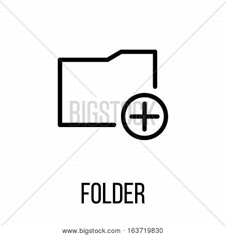 Folder icon or logo in modern line style. High quality black outline pictogram for web site design and mobile apps. Vector illustration on a white background.