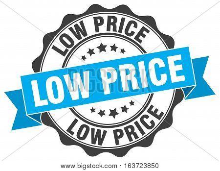 low price. stamp. sign. seal. round. retro. ribbon