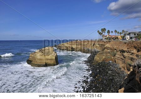 View over Sunset Cliffs, San Diego, California