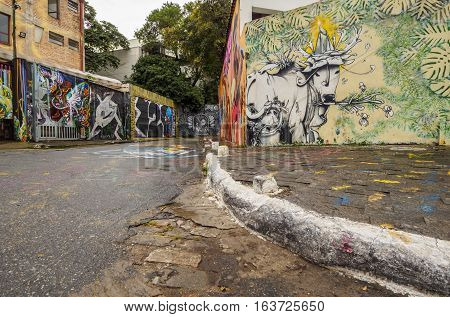 Beco Do Batman In Sao Paulo, Brazil