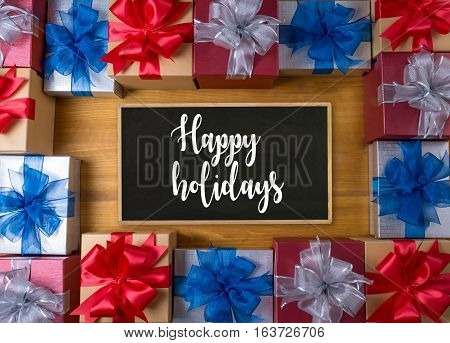 Happy Holidays Cheerful Greeting Good Happy  Greeting Card Celebration