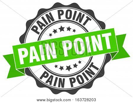 pain point. stamp. sign. seal. round. retro. ribbon