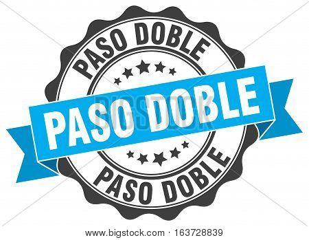 paso doble. stamp. sign. seal. round. retro. ribbon