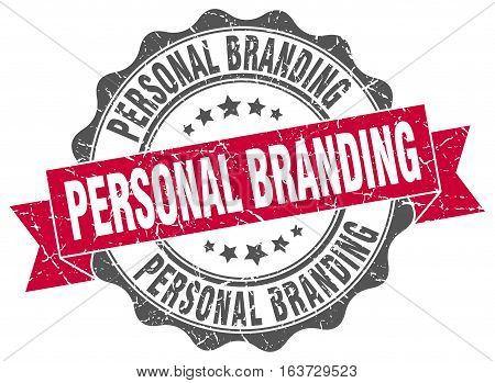 personal branding. stamp. sign. seal. round. retro. ribbon
