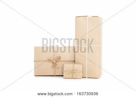 Parcels post box, isolated on white background
