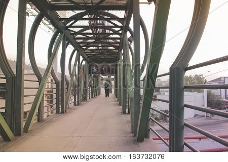 Pedestrian Bridge Photograph