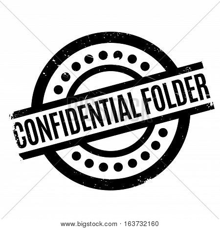 Confidential Folder rubber stamp. Grunge design with dust scratches. Effects can be easily removed for a clean, crisp look. Color is easily changed.