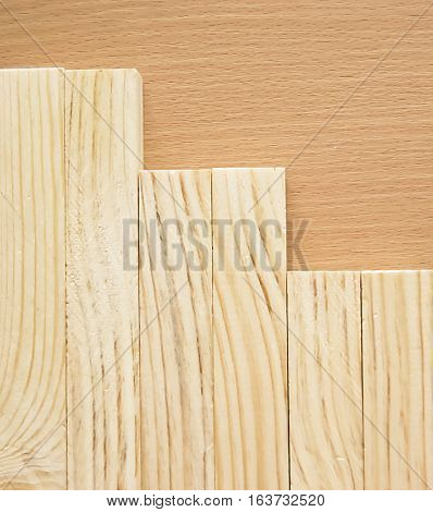 Wooden planks background steps from the planks natural background