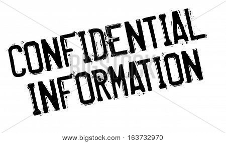 Confidential Information rubber stamp. Grunge design with dust scratches. Effects can be easily removed for a clean, crisp look. Color is easily changed.