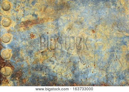 Zinc background smooth style vintage are old and rusty and empty space for text.
