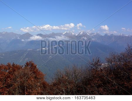View of the ridge Psekhako Sochi Russia