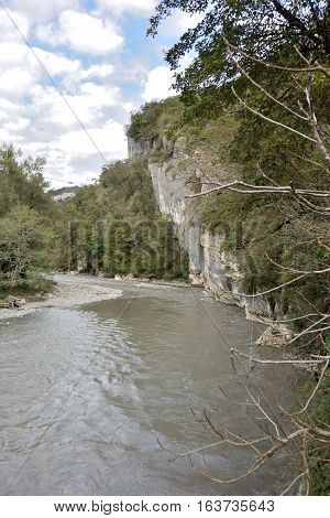 View Ahshtyrskaya Canyon - a place of recreation for residents and visitors of Sochi