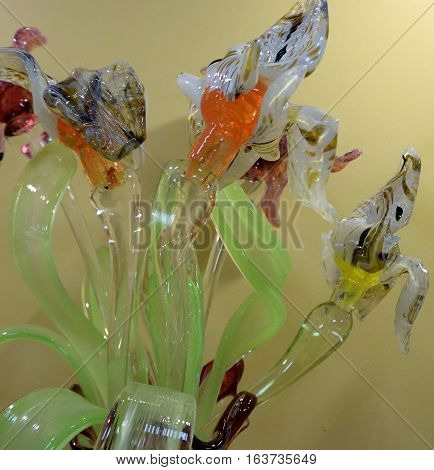 SOCHI RUSSIA - OCTOBER 10 2016: Products Studio Art Glass Sochi Russia