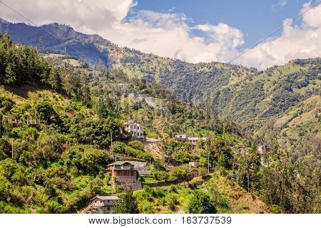 Andean Village On A Summer Day South America Andes Cordillera