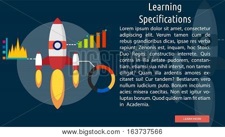 Learning Specifications Conceptual Banner | Great flat icons with style long shadow icon and use for teacher, education, science, analysis, knowledge, learning, event and much more.