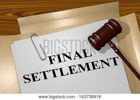 Final Settlement - Legal Concept