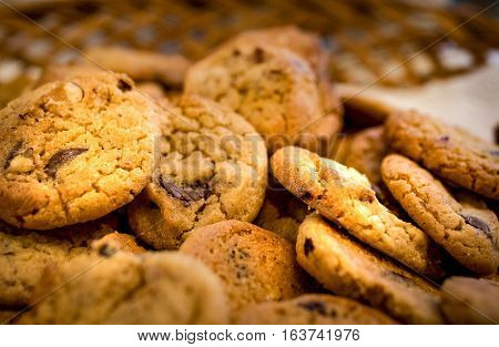 The delicious Danish cookies. Shot in Denmark