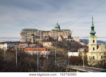Buda Castle Is The Historical Castle And Palace Complex Of The Hungarian Kings In Budapest