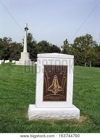 Arlington USA - October 18 2004: Columbia Memorial in Arlington National Cemetery.