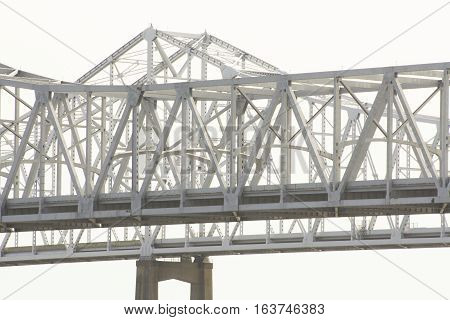 Mississippi River Bridge At New Orleans, Louisiana