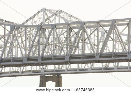 Mississippi River Bridge At New Orleans, Louisiana